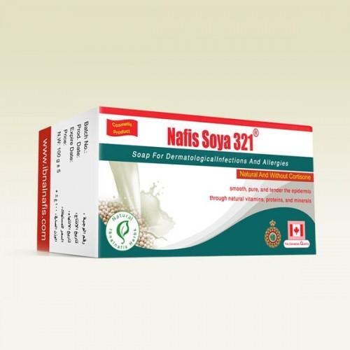 صابونة بزيت الصويا لعلاج شيخوخة البشرة ولنضارة الوجه والجسم321