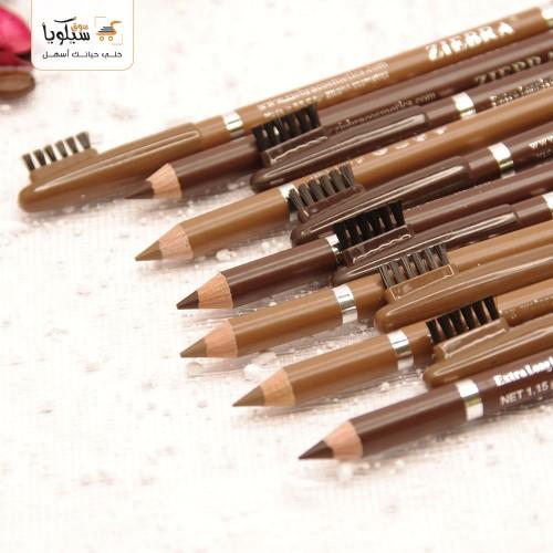 قلم حواجب طرفين زيبرا
