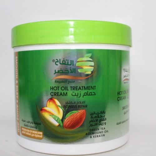حمام زيت التفاح الأخضر بخلاصة الشاي الأخضر و زيت اللوز