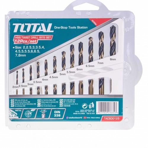 TACSD0125 طقم ريشه حديد 12 قطع 2-2.5-3-3.5-4-4.5-5-5.5-6-6.5-7-8 مم موديل TOTAL