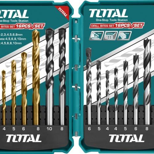 TACSD6165 طقم ريشه حديد2*8 +باطون4*10 +خشب4*10- 16قطع موديل TOTAL صناعي