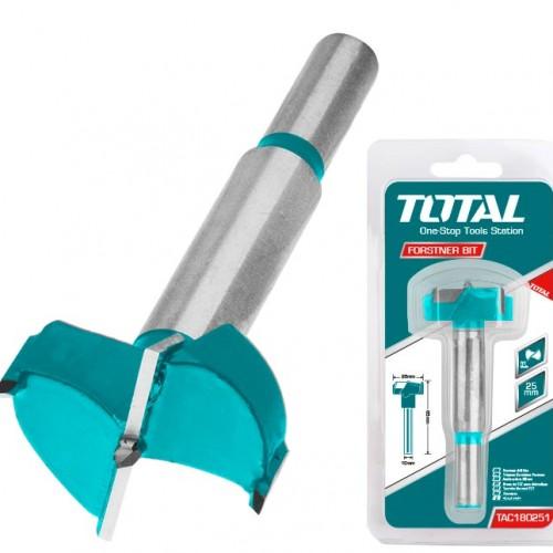 TAC180251 شفرة ثقب 25 مم على كرت TOTAL