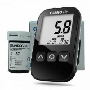جهاز السكر GluNeo Lite + شرائح ٥٠ شريحة