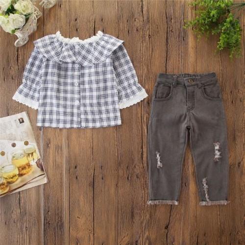 girl set , jeans,  top